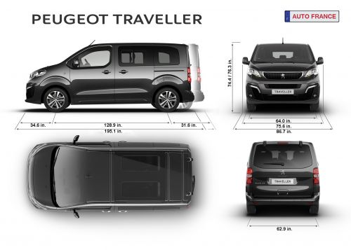 Peugeot Traveler Specifications for Wheelchair or Mobility Scooter
