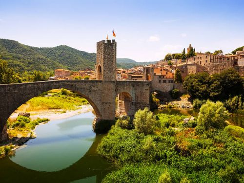 Bridge in Catalonia Region of Spain