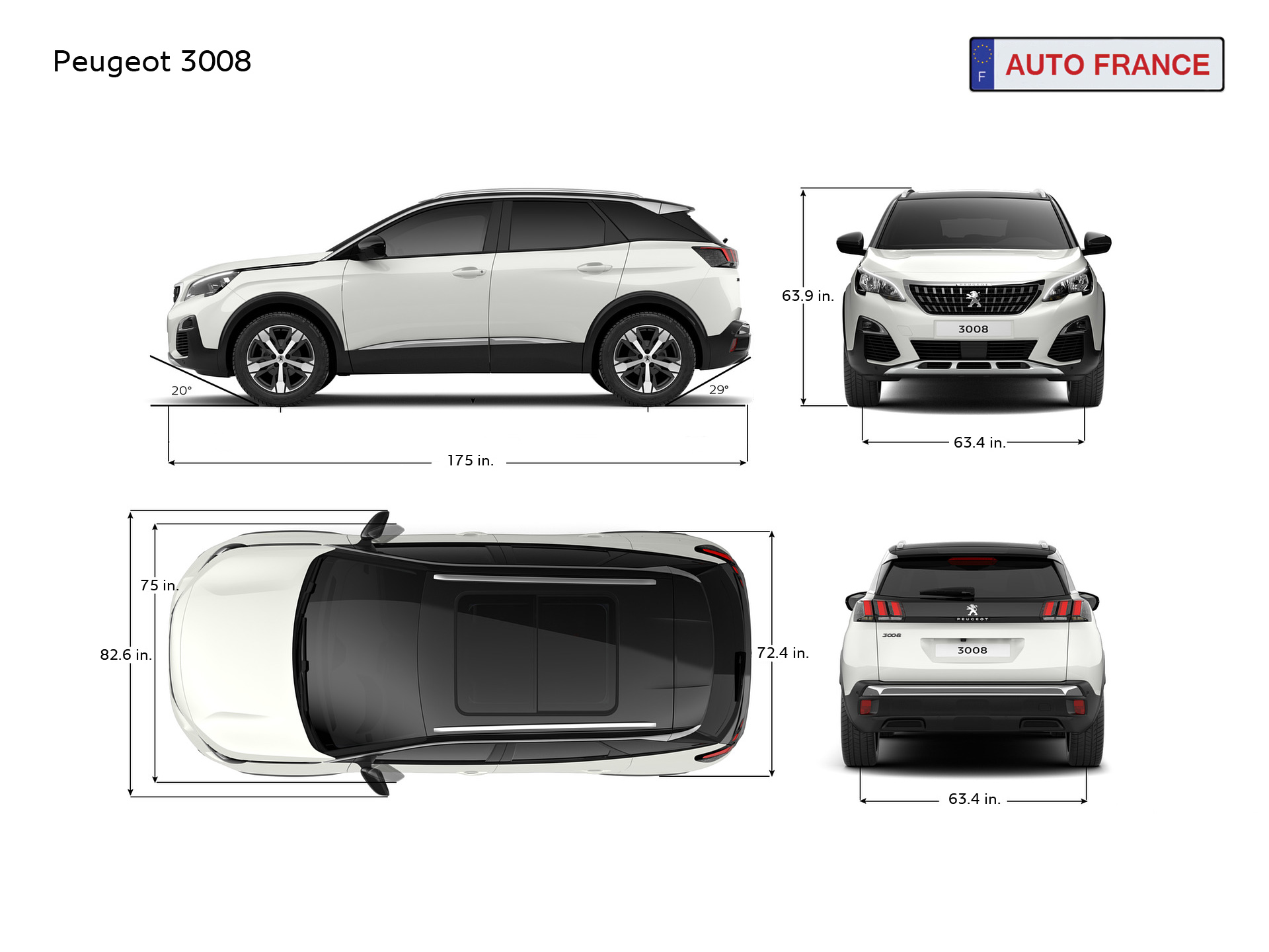 peugeot 3008 information dimensions specifications. Black Bedroom Furniture Sets. Home Design Ideas
